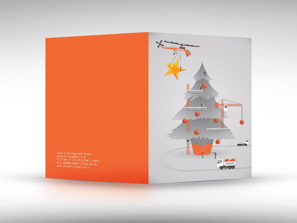 2014 Christmas card illustration for Tandem Building Group