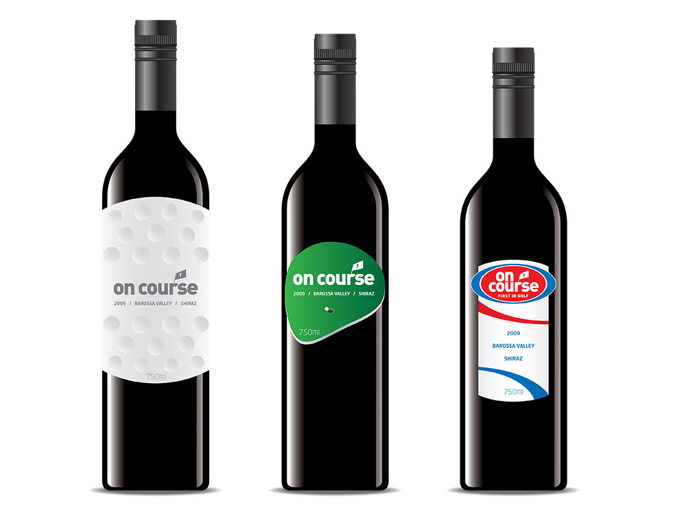 On-Course Golf Corporate wine label concepts