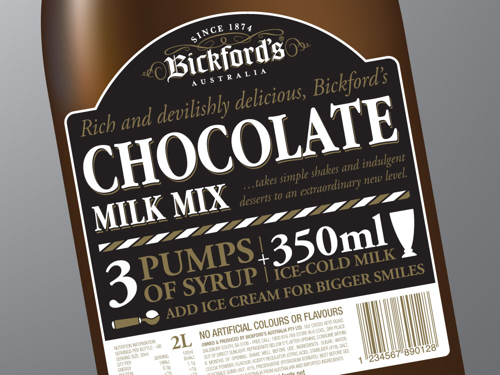 Bickford's Milk Flavouring – Chocolate Close Up