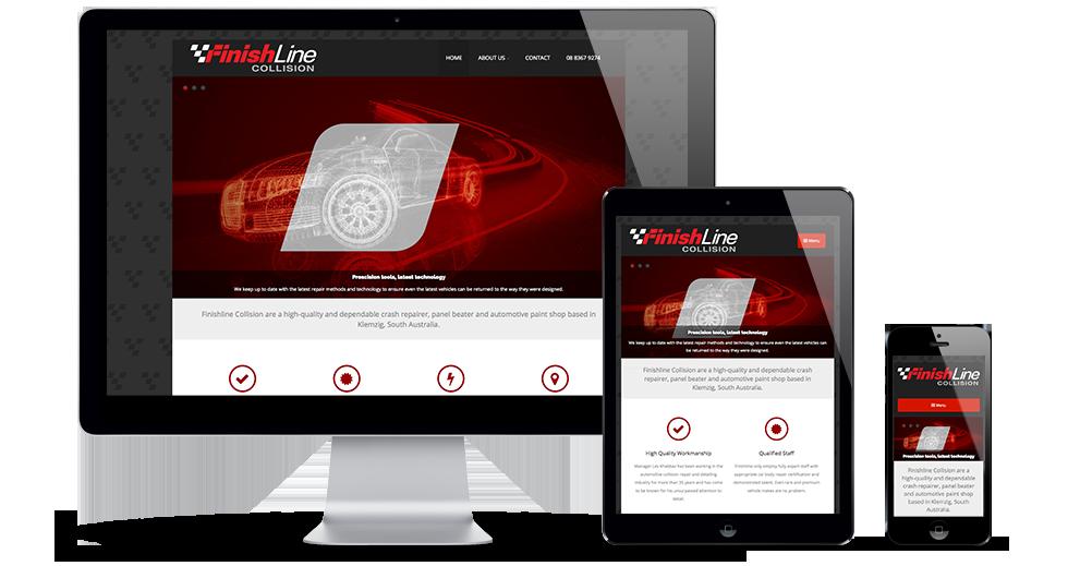 Finishline Collision Responsive Website