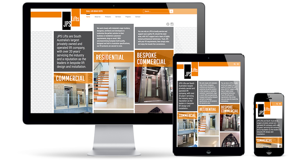 JPS Lifts Responsive Website
