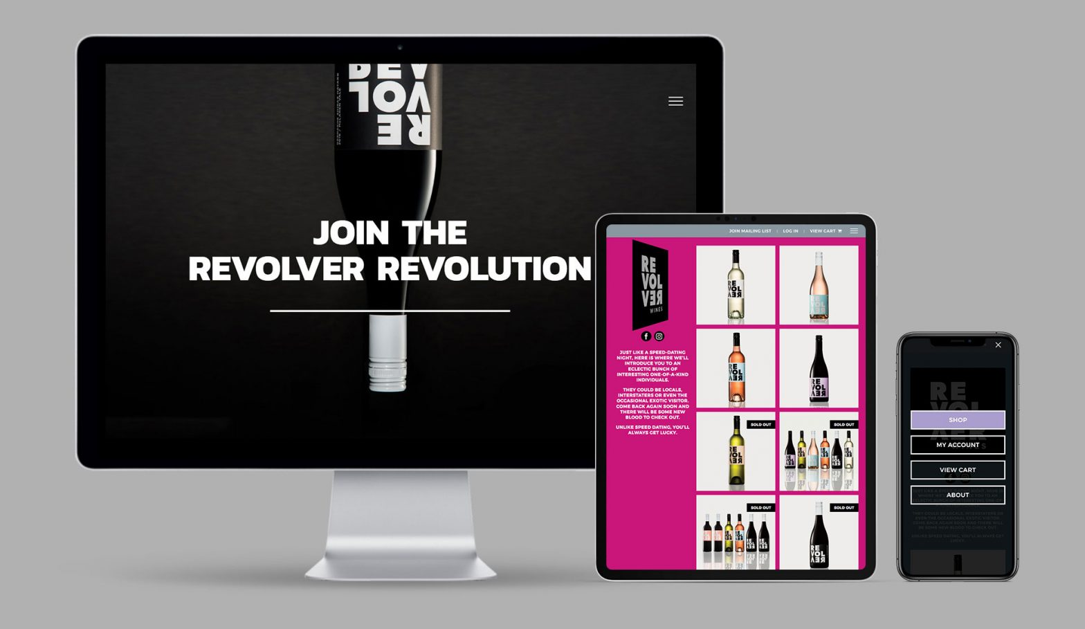WordPress eCommerce website for Revolver Wines.