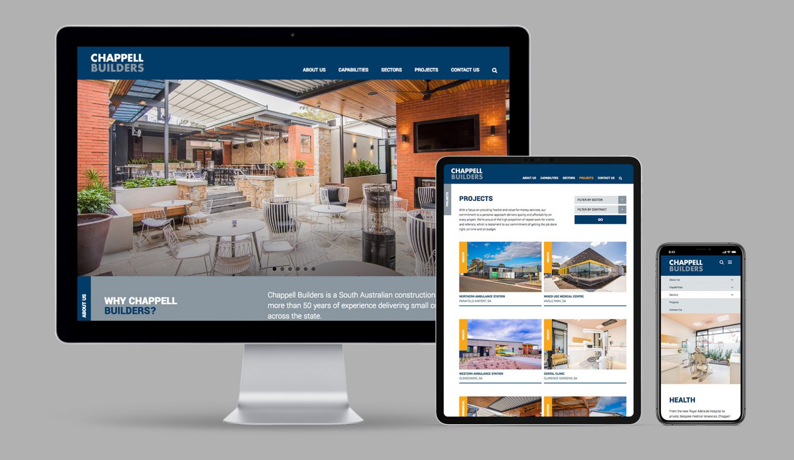 Chappell Builders WordPress Website