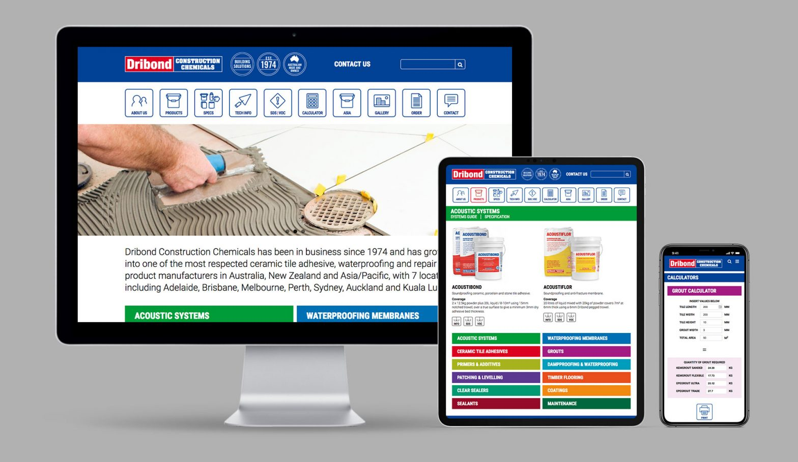 Dribond Construction Chemicals Responsive WordPress Website
