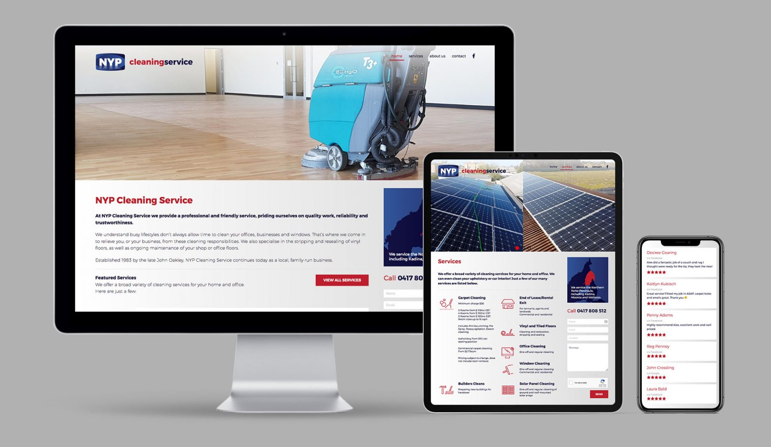 NYP Cleaning Responsive Website