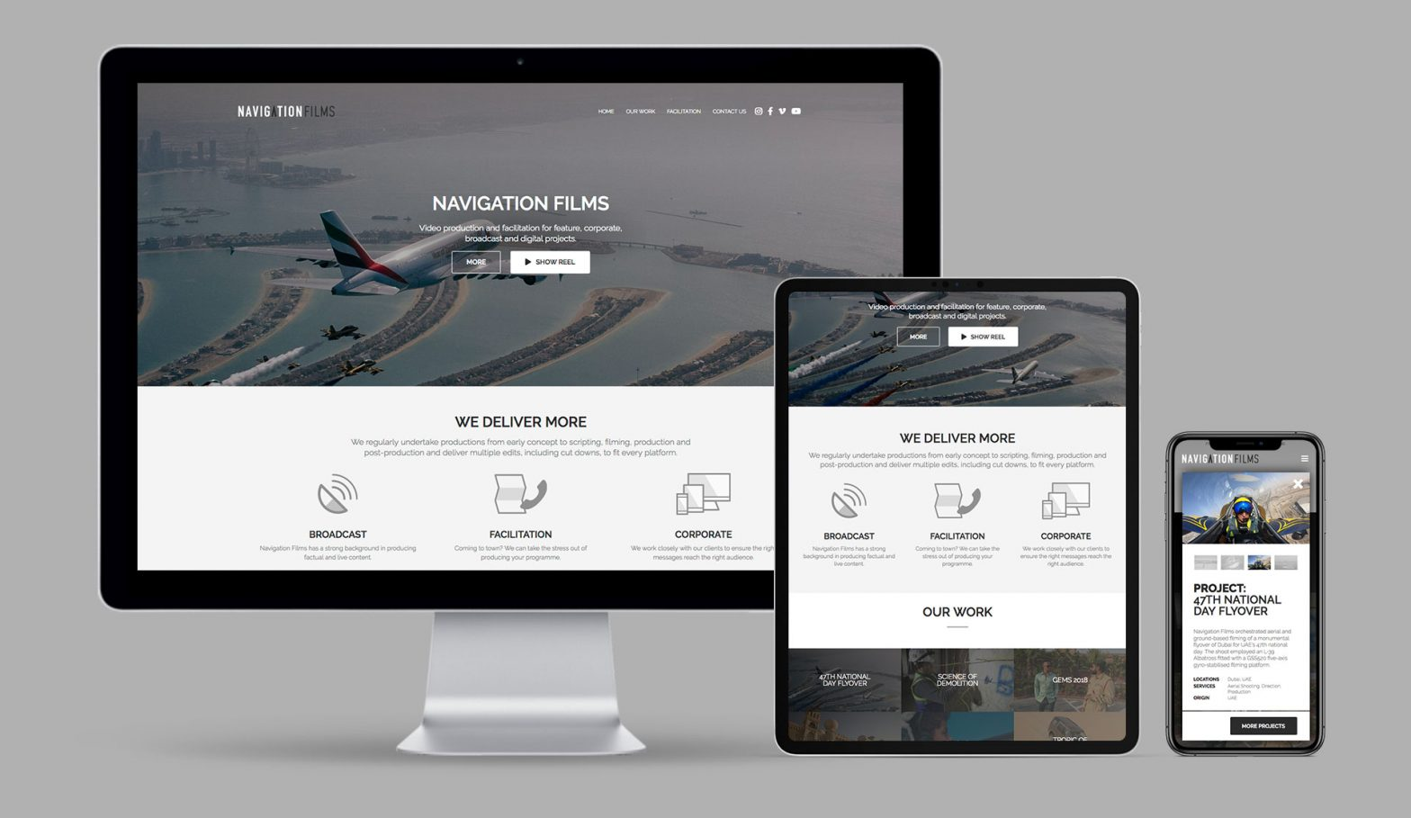 Navigation Films Responsive WordPress Website Mk3