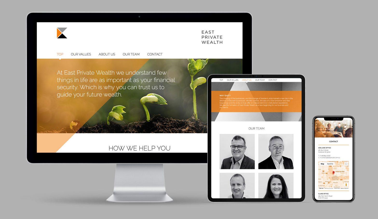 East Private Wealth WordPress Website