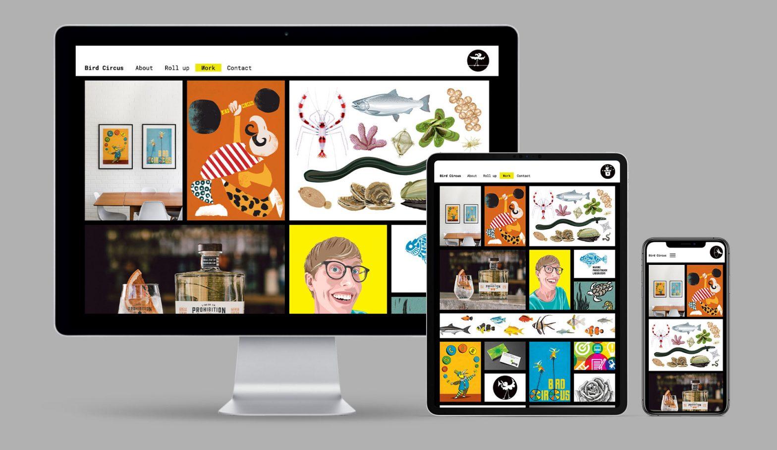 Bird Circus WordPress Portfolio Website