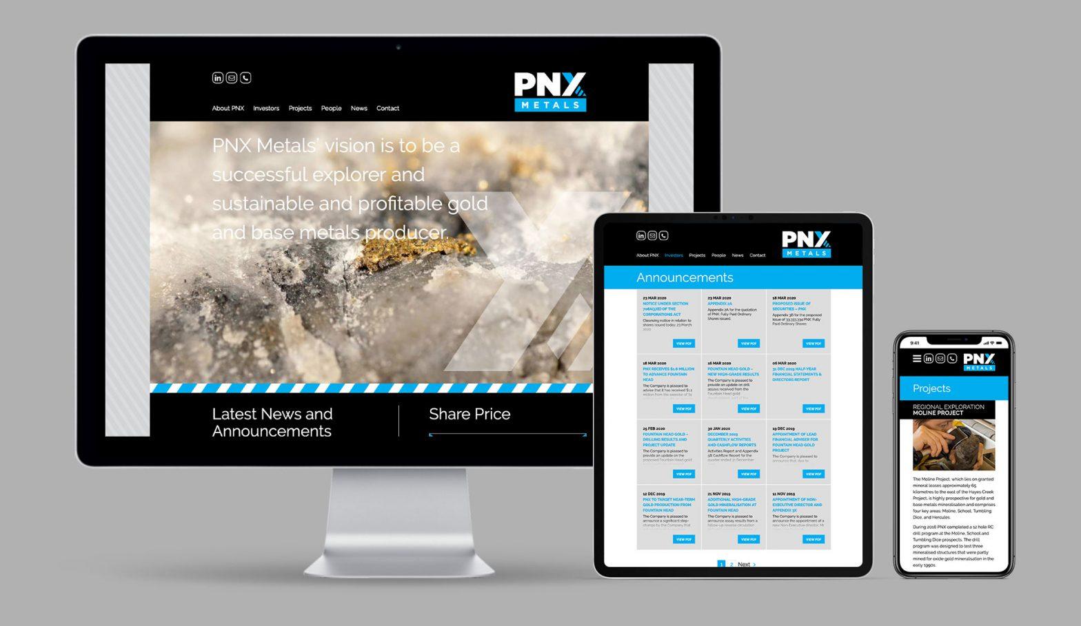 PNX Metals Responsive WordPress Website